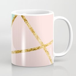 Blush, Mint, White Geo with Gold #1 #minimal #decor #art #society6 Coffee Mug