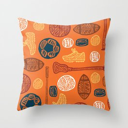 Sports Pattern Throw Pillow