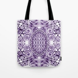 Grape Wash Zentangle Tile Doodle Design Tote Bag