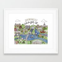 dc Framed Art Prints featuring Washington DC by Brooke Weeber