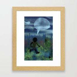 Run Runs in V Neck Framed Art Print