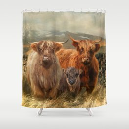 Hairy Coo's Shower Curtain