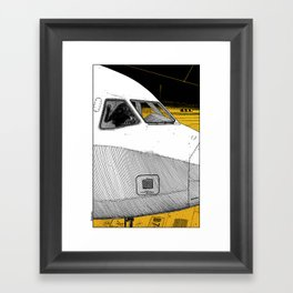 asc 698 - Le tarmac la nuit (Your flight was delayed due to technical problems) Framed Art Print