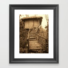 South Indian Treehouse Framed Art Print