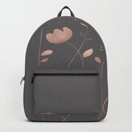 Rosegold pink flowers - floral design - Flower Backpack