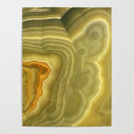 Green marble pattern Poster