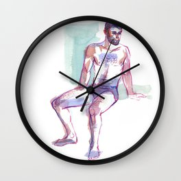 ED, Semi-Nude Male by Frank-Joseph Wall Clock