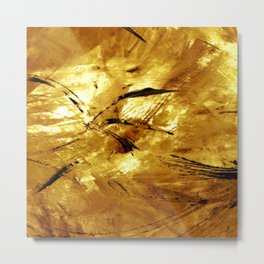 A Touch of Gold Metal Print