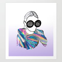 holographic Art Prints featuring Holographic by Fatima khayyat