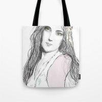 boho Tote Bags featuring Boho by Lyndsey Ferguson