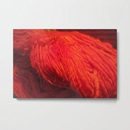Yarn on Fire Metal Print