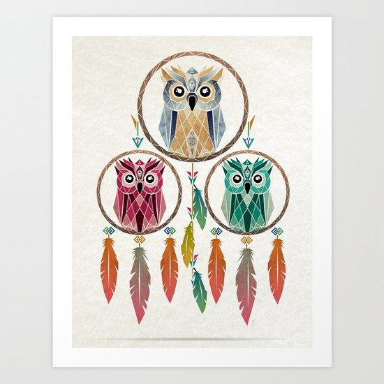 dream owl Art Print