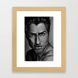 Masood Portrait Framed Art Print