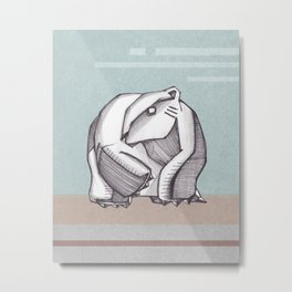 Abstract polar bear illustration Metal Print