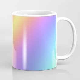 Colorful Gradient Abstract Rainbow Pattern Holographic Foil Coffee Mug