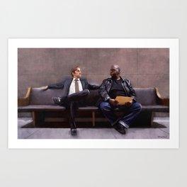 Jimmy McGill and Huell Babineaux - Better Call Saul Art Print