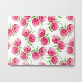 Rose Patterns Metal Print