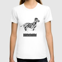 Dachshund in the snow T-shirt