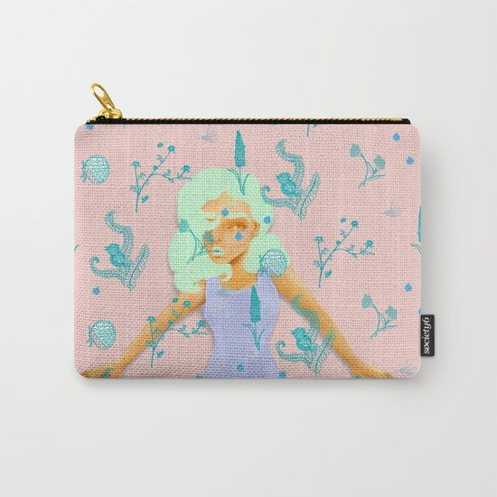 Design Based in Reality Pink Carry-All Pouch