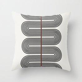 Retro, Mid-Century Line Art Throw Pillow