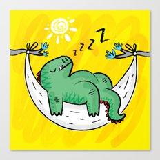 Dinosnore Canvas Print