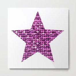 Sparkling Star,pink Metal Print