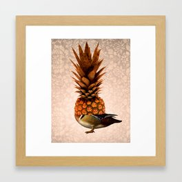 Pineapple Duck Framed Art Print
