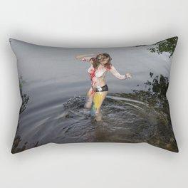 Devil is Fine Rectangular Pillow