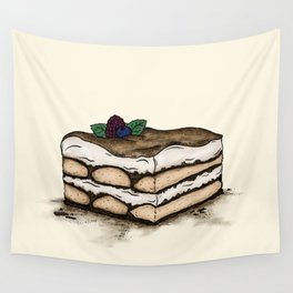 T is for Tiramisu Wall Tapestry