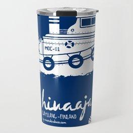 Hinaaja (Finland) Gay Slang Collection. White. Travel Mug