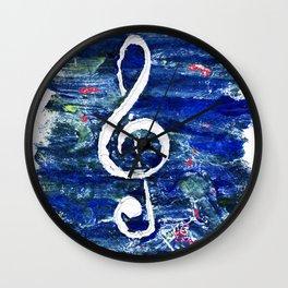 G clef or the sun key Wall Clock