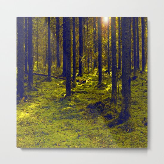 Green Forest Metal Print