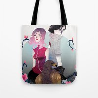 gore Tote Bags featuring Glory and Gore go hand and hand by Serena Rocca