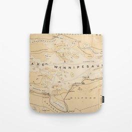 Vintage Map of Lake Winnipesaukee (1896) Tote Bag