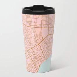 Pink Santo Domingo map Travel Mug