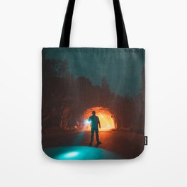 Searching The Tunnels Of Yosemite Tote Bag