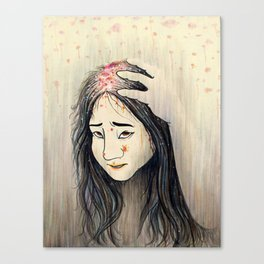 Unwashed hair Canvas Print