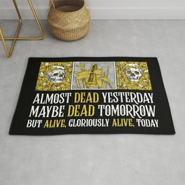 Wheel of Time - Mat Cauthon Quote - Robert Jordan - Almost Dead Yesterday Rug