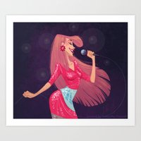 jem Art Prints featuring Jem by Samantha Youssef