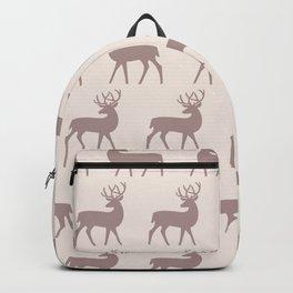 Mid Century Modern Deer Pattern Beige 3 Backpack