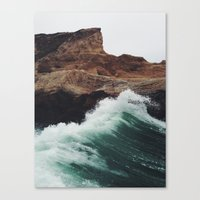 california Canvas Prints featuring Montaña Wave by Kevin Russ