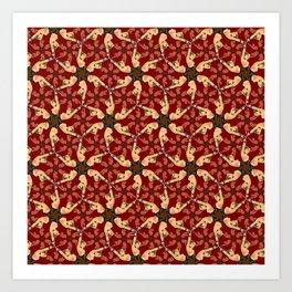 Eloise in Bondage pattern Art Print