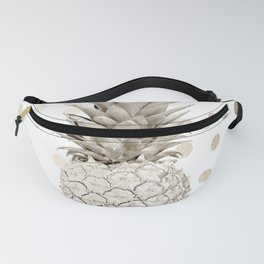 Gold Pineapple Polka Dots 1 Fanny Pack