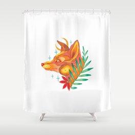 Moonshine fox Shower Curtain