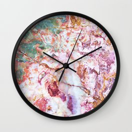 Multicolor geode amethyst slice Wall Clock