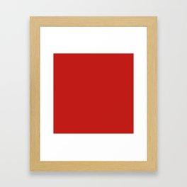 Dark Solid Chilli Pepper Red Color Framed Art Print
