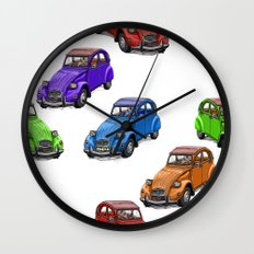2cv pattern big Wall Clock