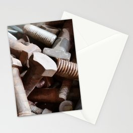 Bolt on the wall Stationery Cards
