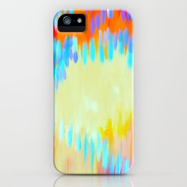 Bright abstract art with Happy Colours iPhone Case