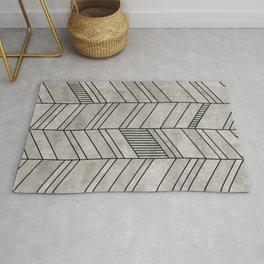 Concrete Chevron Pattern Rug